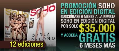 Promoción SoHo en edición digital. Suscríbase 6 meses a la revista SoHo en edición digital por sólo $35.000 y acceda GRATIS 6 meses más.